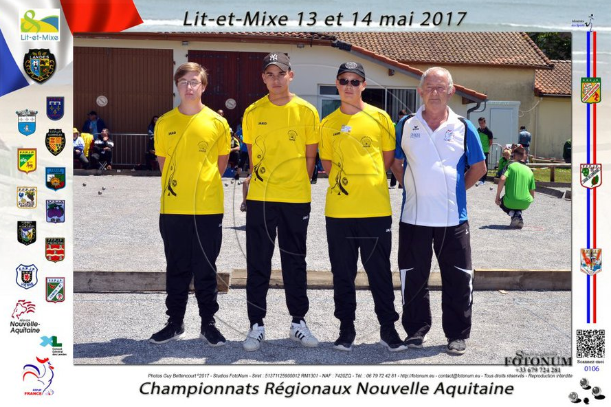 """Notre triplette """"Juniors"""" à LIT ET MIXE (40)"""
